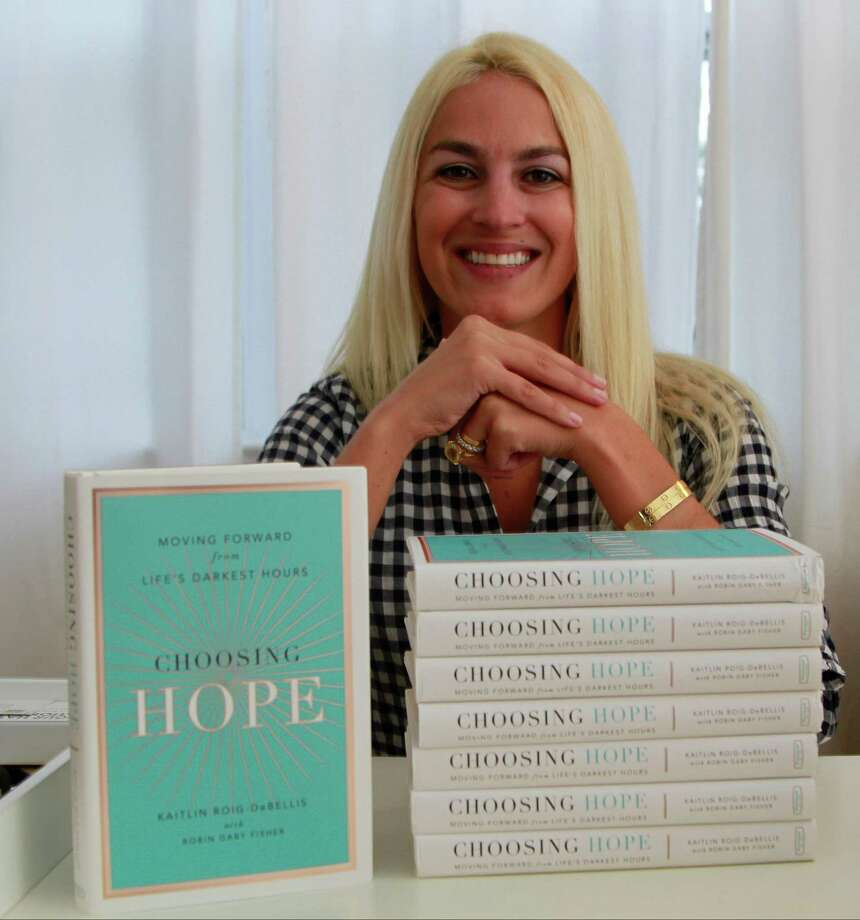 """Kaitlin Roig-DeBellis, a former educator at Sandy Hook Elementary School, is photographed at her home in Greenwich on Wednesday, Sept. 30, 2015. the Sandy Hook teacher wrote a book about surviving the December 2012 tragedy called """"Choosing Hope: Moving Forward from Life's Darkest Hours"""". Photo: Matthew Brown / For Hearst Connecticut Media / Connecticut Post Freelance"""