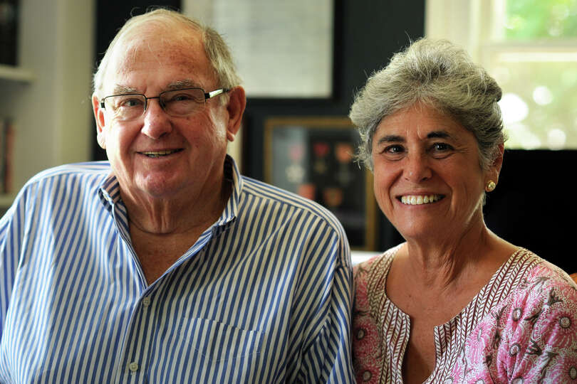 Lowell P. Weicker, Jr. and his wife Claudia at home in Old Lyme, Conn., Aug. 5, 2014. Lowell Weicker