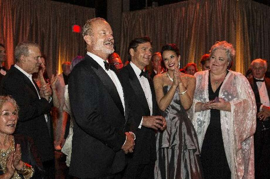 Kelsey Grammer, Nathan Gunn, Alexandra Silber and Stephanie Blythe at Aria event after Symphony opening concert