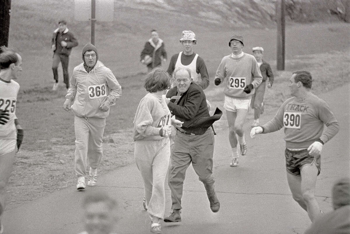 In 1967, irate race official Jock Semple tried forcibly to remove Kathrine Switzer from the then all-male Boston Marathon simply because she was a woman. Luckily for Switzer, the official was bounced out of the race instead by her boyfriend and she went on to finish. Switzer was inspired by the incident to create running events for women all over the world and was a leader in getting the women's marathon into the Olympic Games.