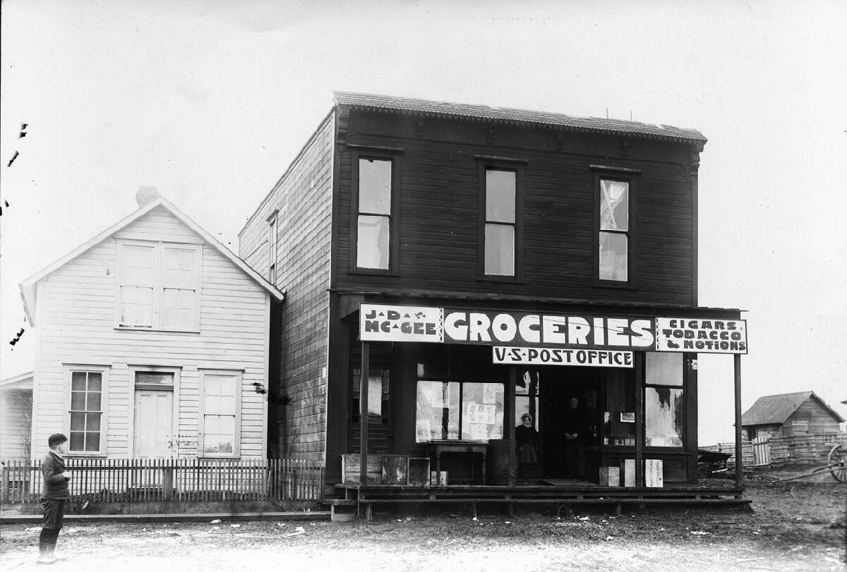 J.D. McGee Groceries at 1613 44th Ave. S.W., pictured in 1900.