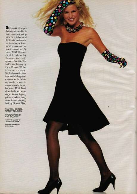 In the '80s, Davis appeared frequently in fashion magazines.