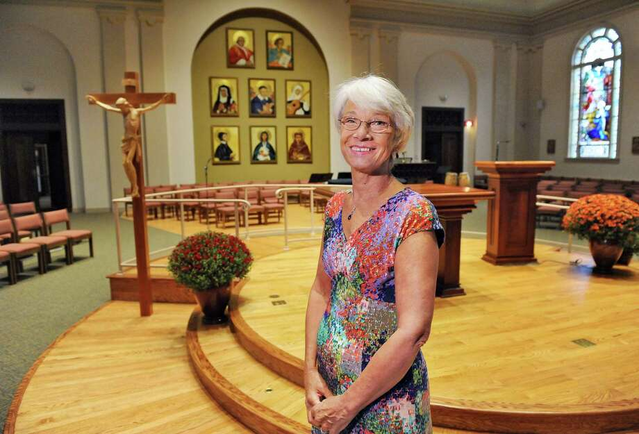 Betsy Rowe-Manning in the redesigned St. Vincent's sanctuary Wednesday Sept. 30, 2015 in Albany, NY.   (John Carl D'Annibale / Times Union) Photo: John Carl D'Annibale / 00033543A