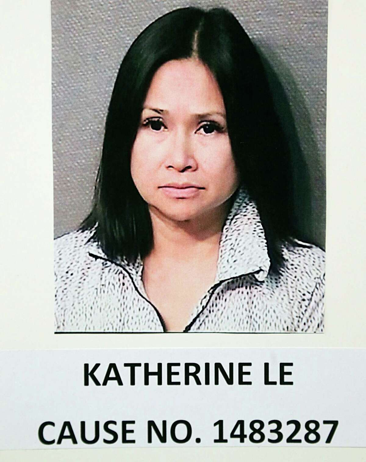 A booking photograph of Katherine Le in case on Engaging in Organized Crime ; Underlying Crime / Money Laundering in connection with a Houston game room in which six were arrested Friday, Oct. 2, 2015, in Houston.
