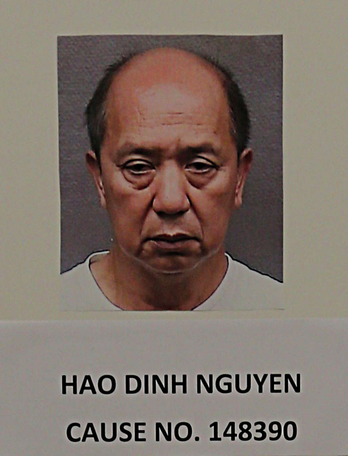 A booking photograph of Hao Dinh Nguyen in case on Engaging in Organized Crime ; Underlying Crime / Money Laundering in connection with a Houston game room in which six were arrested Friday, Oct. 2, 2015, in Houston.