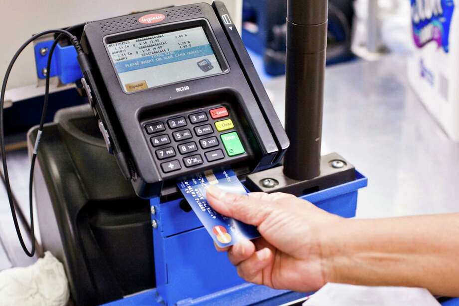 About 37 percent of U.S. merchants that accept credit cards have upgraded to payment terminals designed for chip cards, also known as EMV cards, according to a survey by management consultant The Strawhecker Group. That's less than the 44 percent of merchants expected to have been ready by the end of 2015, according to a Strawhecker survey from last fall. Photo: Bryan Anselm /New York Times / NYTNS