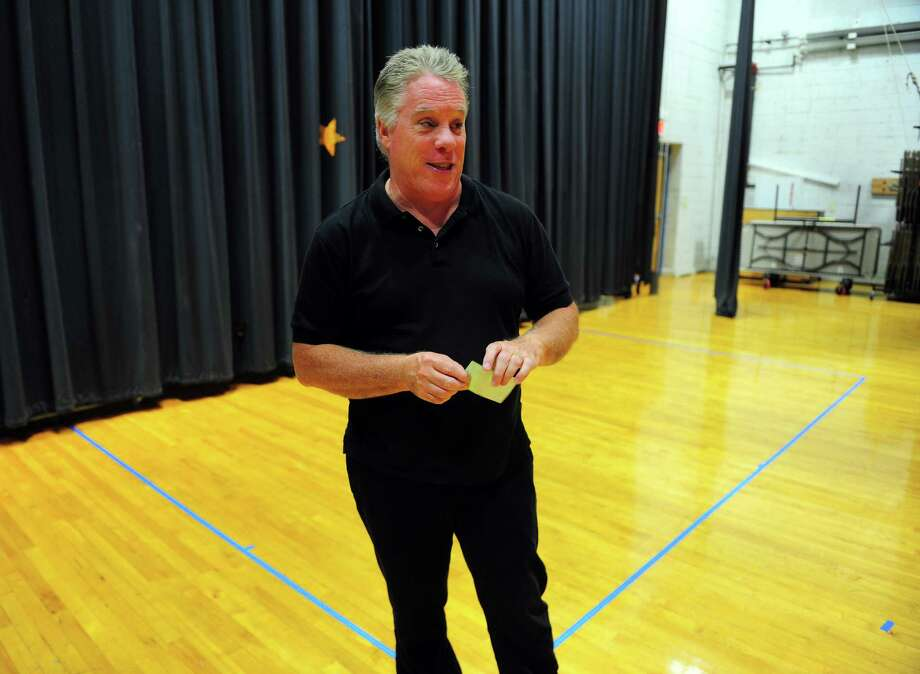 "Square One Theatre Artistic Director Tom Holehan talks Friday about the troupe's new space at Stratford Academy's Johnson House. Its first production on the new stage will be the play ""Mass Appeal,"" by Bill Davis, slated for Nov. 5-22. Photo: Christian Abraham / Hearst Connecticut Media / Connecticut Post"