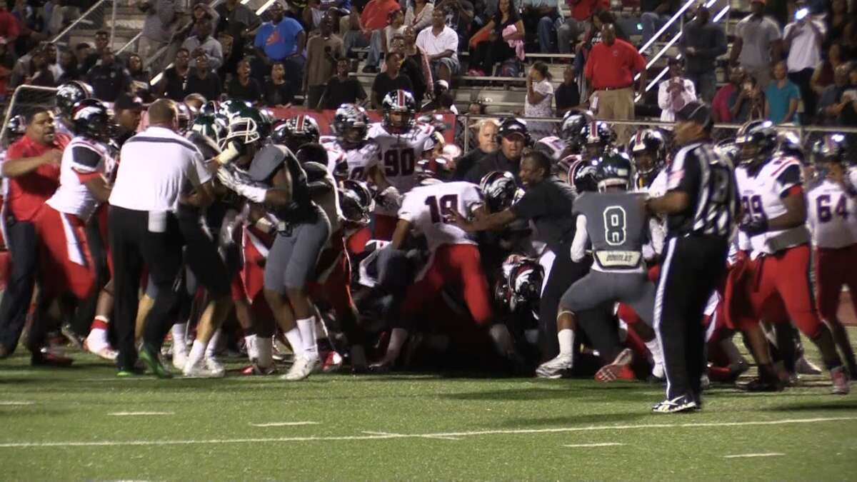 The Westfield-Spring football game was stopped with 6:18 remaining in the game due to a bench-clearing brawl. Westfield was declared the winner, 36-25.