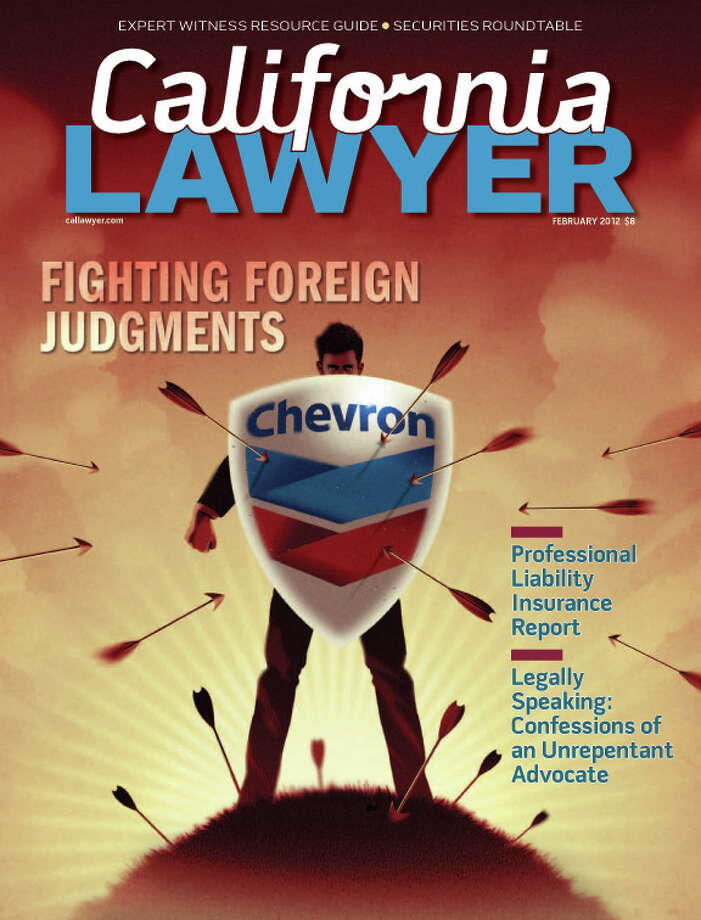 February 2012 cover of California Lawyer Magazine
