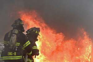 Live burn highlights Danbury fire safety day - Photo