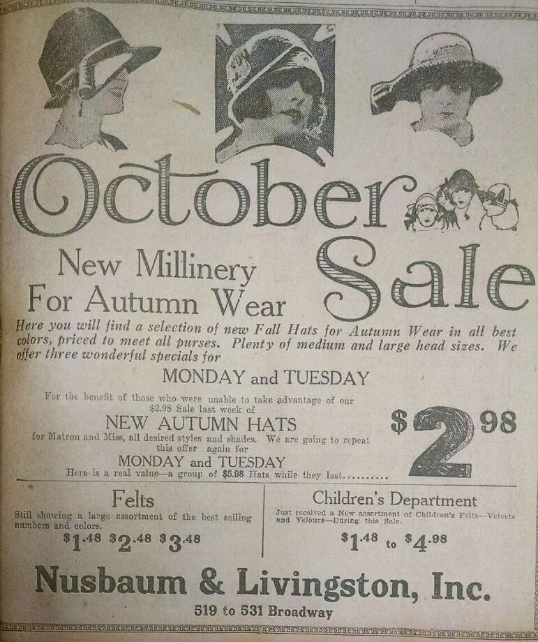 Attention flappers! Here's a 90-year-old ad that appeared in the Albany Sunday Telegram on Oct. 4, 1925. (Times Union archive)