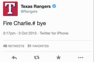 Texas Rangers fire employee over Charlie Strong tweet - Photo