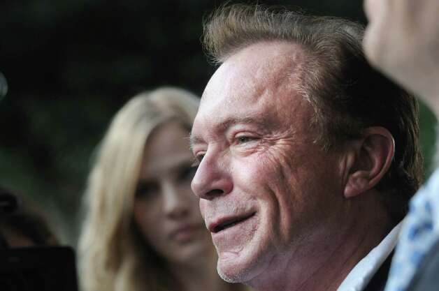 Celebrity David Cassidy talks about the status of his DWI plea at Town Court on Wednesday Sept. 3, 2014 in Schodack, N.Y.  (Michael P. Farrell/Times Union) ORG XMIT: MER2014090319524928 Photo: Michael P. Farrell / 00028445A