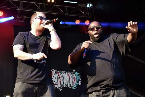 Killer Mike and El-P of Run The Jewels perform during the 2015 Austin City Limits Music Festival at Zilker Park on October 2, 2015 in Austin, Texas.