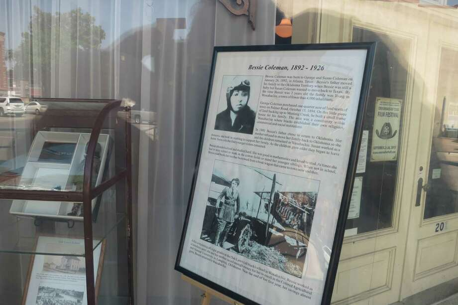 The Ellis County Museum, across the street from Waxahachie's historic Ellis County Courthouse, featured Bessie Coleman, who grew up in Waxahachie. Photo: Joe Holley, Houston Chronicle / Houston Chronicle