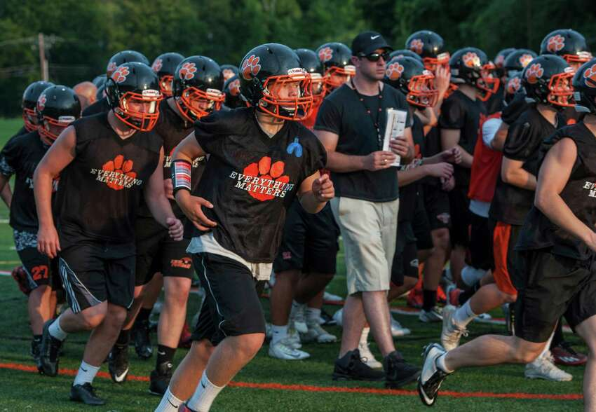 8. The legend of Tiger Hollow: Ridgefield's home field is never a fun experience for visiting teams and Norwalk learned that Friday night, falling to the Tigers 24-15 in the Hollow Friday night. The win moves Ridgefield to 2-1. (File photo)