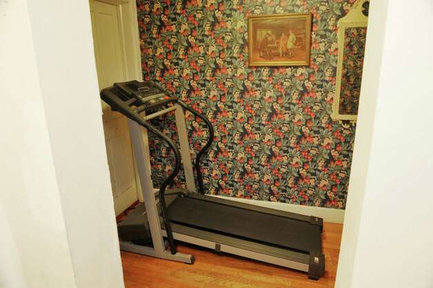 A view of a treadmill in a portion of Gregg Tobin's home that he rent's out through Airbnb, seen here on Thursday, Oct. 1, 2015, in Albany, N.Y.  (Paul Buckowski / Times Union) Photo: PAUL BUCKOWSKI / 10033576A