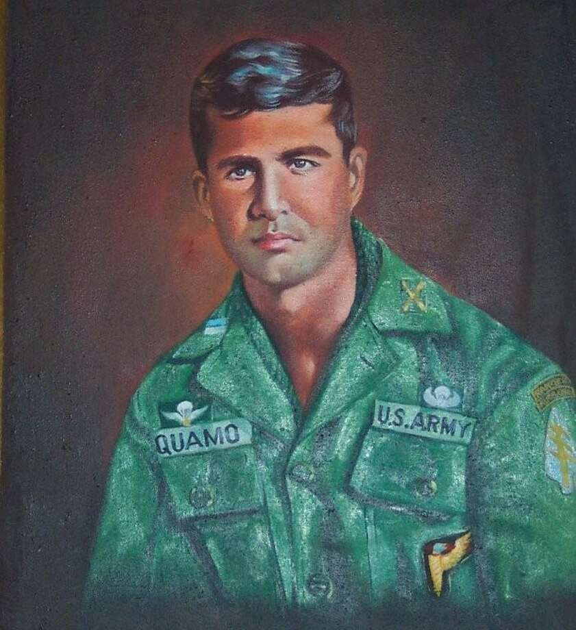 A portrait painted in Vietnam of George Quamo, who graduated from Averill Park High School and became a commander of a top secret group of special forces in Vietnam during the 1960s. (Courtesy of Quamo family/John Mullen)