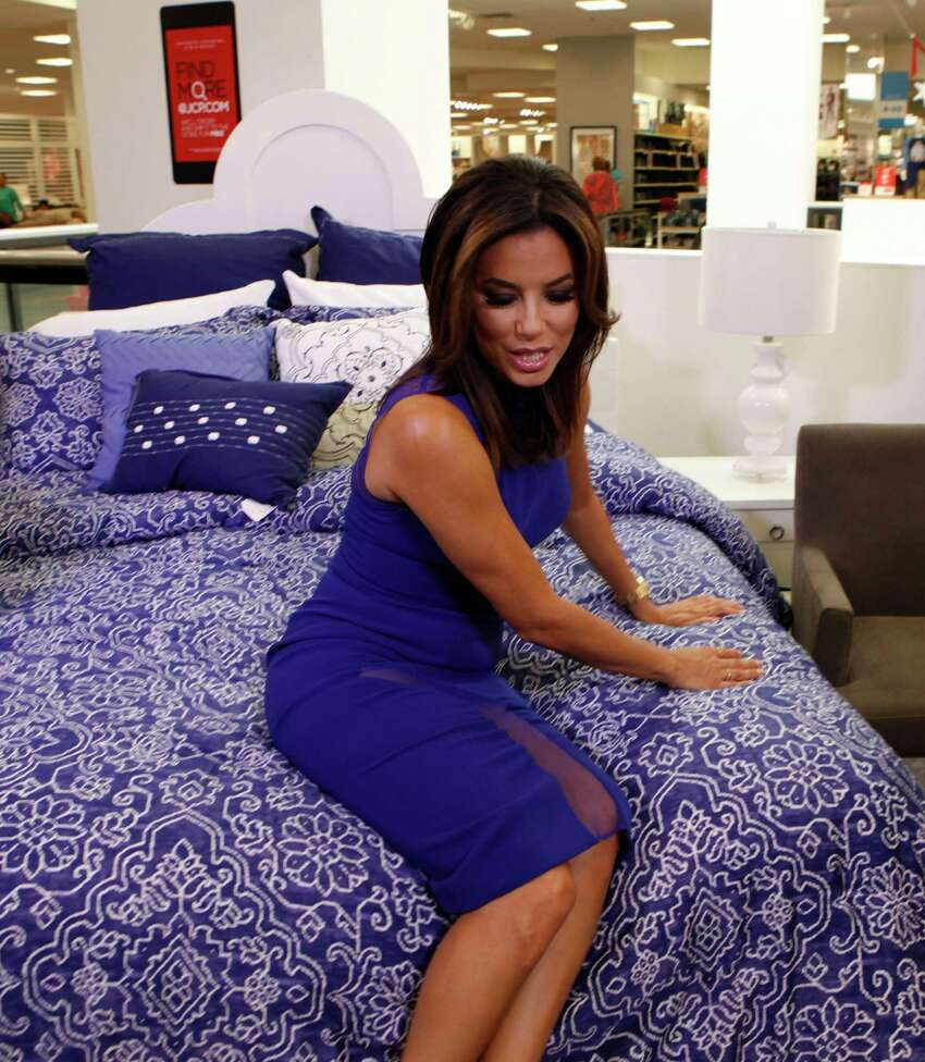 Eva Longoria makes an appearance at JCPenny Saturday Oct. 3, 2015 inside North Star Mall while promoting her new Eva Longoria Home Collection which includes bedding, decorative pillows and window treatments. JCPenny had 125 wristbands for those who wanted to see Longoria in the store and were handed out that day to those who first showed for the hour long autograph session.