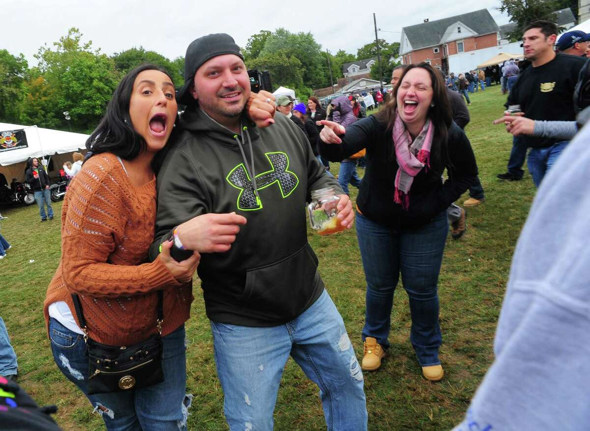 Scenes from the Smoke in the Valley Craft Beer and Music Fest in Seymour, Conn. on Saturday October 3, 2015. Craft beers from breweries around Connecticut and beyond were on hand to promote their beers. Bands like John Brown's Body and Max Creek supplies the music. Several gourmet food trucks were also at the festival.