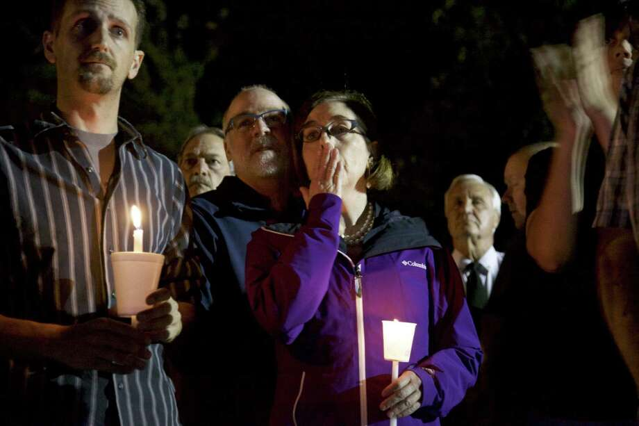 ROSEBURG, OREGON - OCTOBER 1: Governor Kate Brown of Oregon attends at a candlelight vigil for the victims of a shooting at Umpqua Community College October 1, 2015 in Roseburg, Oregon. According to reports, 10 were killed and 20 injured when a gunman opened fire at Umpqua Community College in Roseburg, Oregon. (Photo by Michael Lloyd/Getty Images) ORG XMIT: 582572437 Photo: Michael Lloyd / 2015 Getty Images