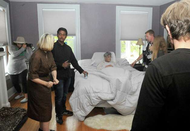 """A scene is blocked for the film """"Fado,"""" an independent film about a man with Alzheimer's, on Saturday Oct. 3, 2015 in troy , N.Y.  (Michael P. Farrell/Times Union) Photo: Michael P. Farrell / 10033603A"""