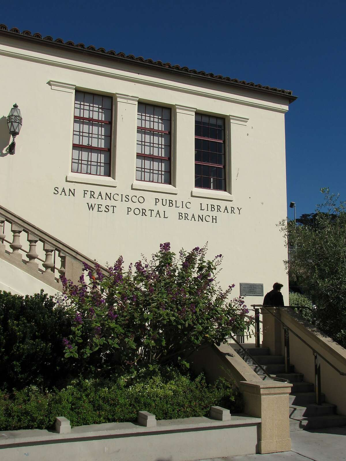The West Portal branch library opened in 1939. It was redone and reopened in 2007, but the idea was to look as though there hadn't been any changes at all.