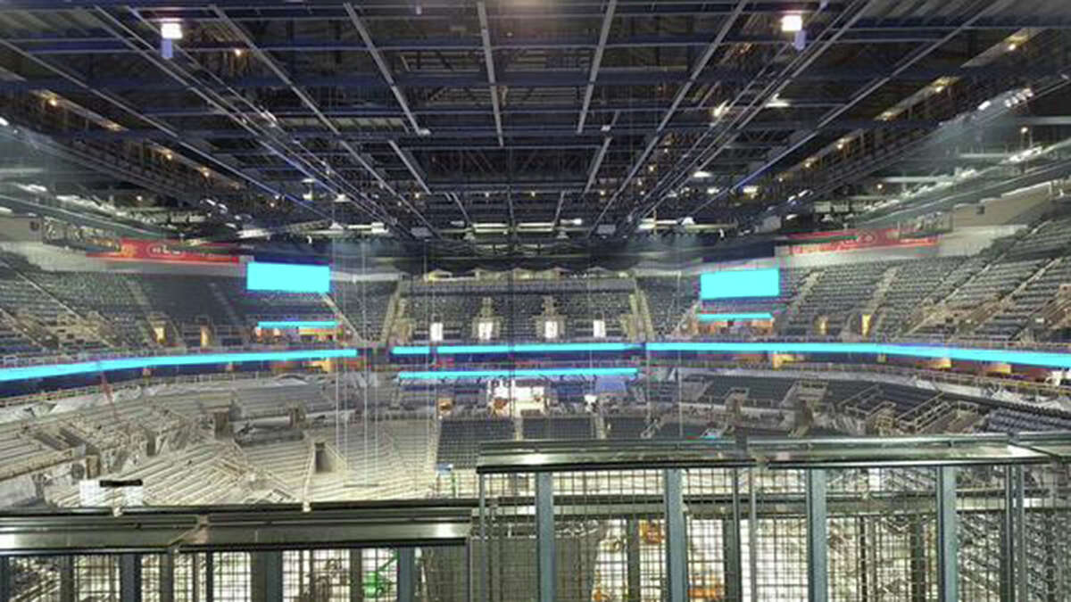 Additional leaked photos show installation of the new scoreboard at the AT&T Center.