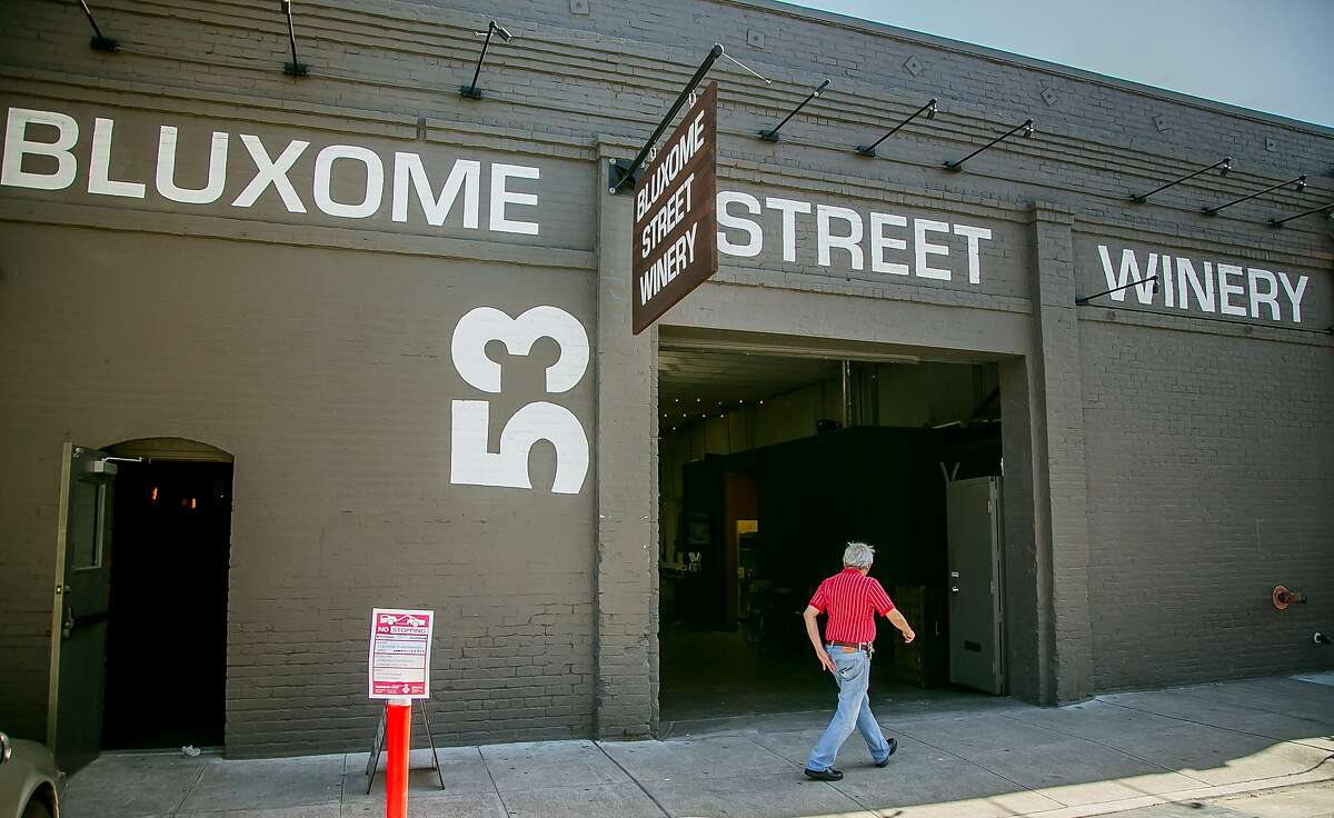 The exterior of Bluxome Street Winery in San Francisco, Calif. is seen on Saturday, October 3rd, 2015.