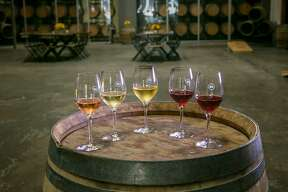 The wines of Bluxome Street Winery in San Francisco, Calif. are seen on Saturday, October 3rd, 2015.