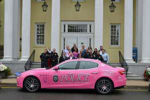 Westport's pink police car raising breast cancer awareness - Photo