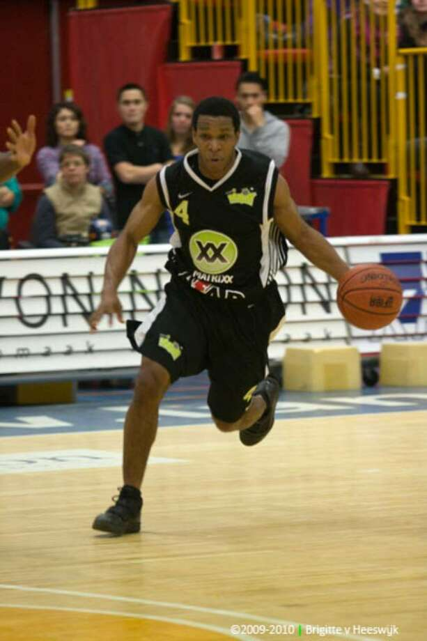 Former Trinity Catholic High School star Torey Thomas is again flourishing in his third season playing professionally in Europe. Photo: Contributed Photo / Stamford Advocate Contributed