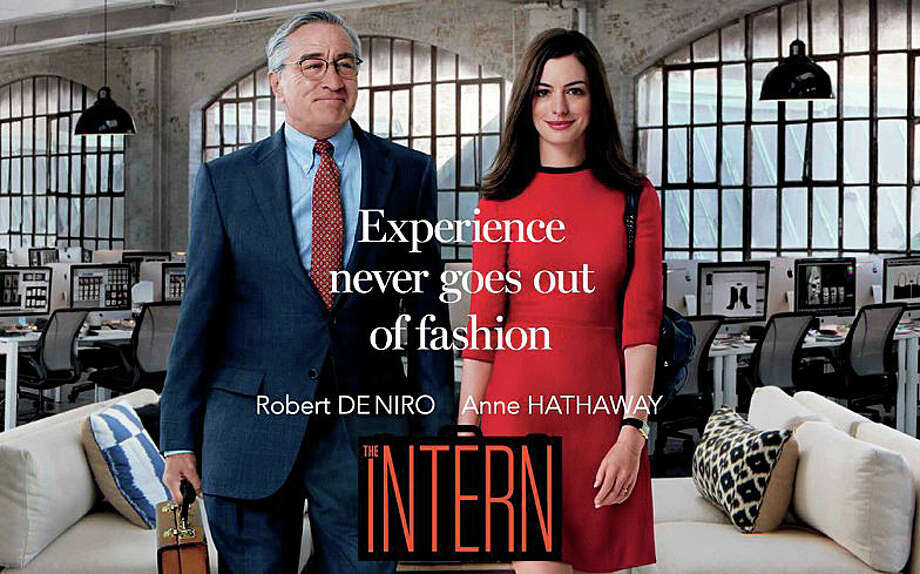 """The Intern"" is a new movie comedy where ""senior"" intern Robert DeNiro returns to work at a start-up run by Anne Hathaway. Photo: Contributed / Contributed Photo / Westport News"