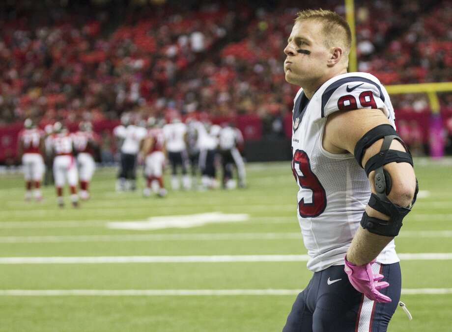Texans defensive end J.J. Watt has not missed a game during his five seasons in the NFL. Photo: Brett Coomer, Houston Chronicle