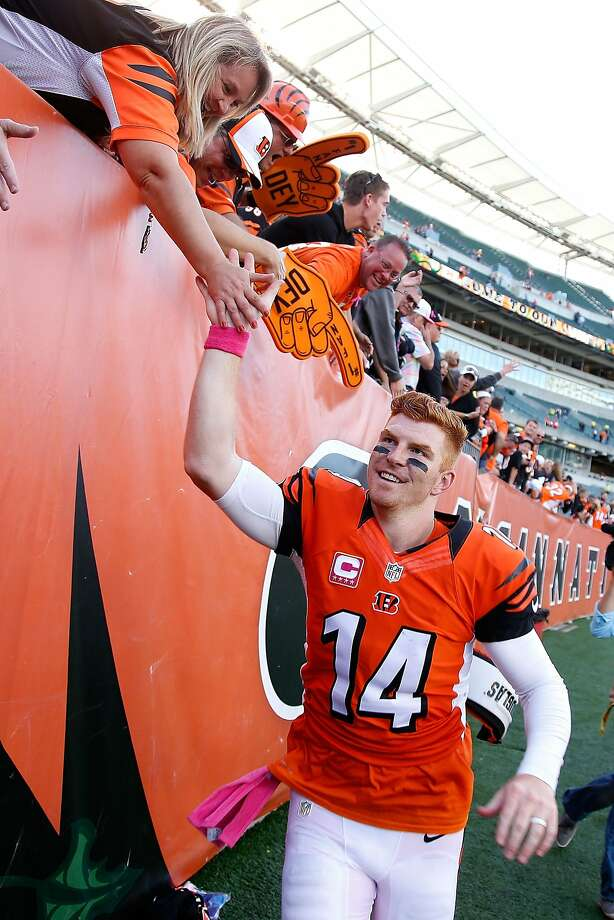 Bengals quarterback Andy Dalton, the AFC's top passer, was 17 of 24 for 321 yards against the Chiefs. Photo: Joe Robbins, Getty Images