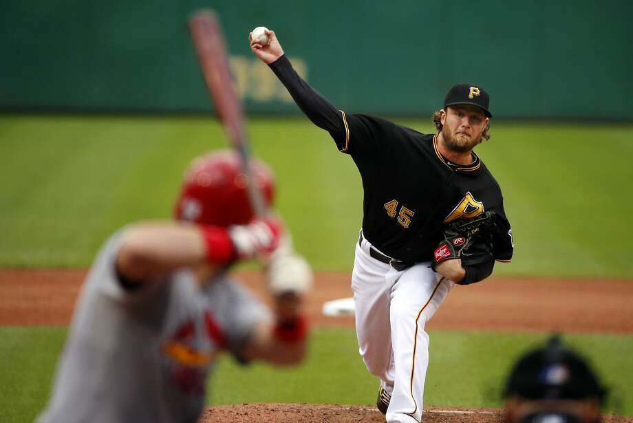 Pirates ace Gerrit Cole will face Cubs Cy Young candidate Jake Arrieta in the NL wild-card game. Photo: Gene J. Puskar, Associated Press