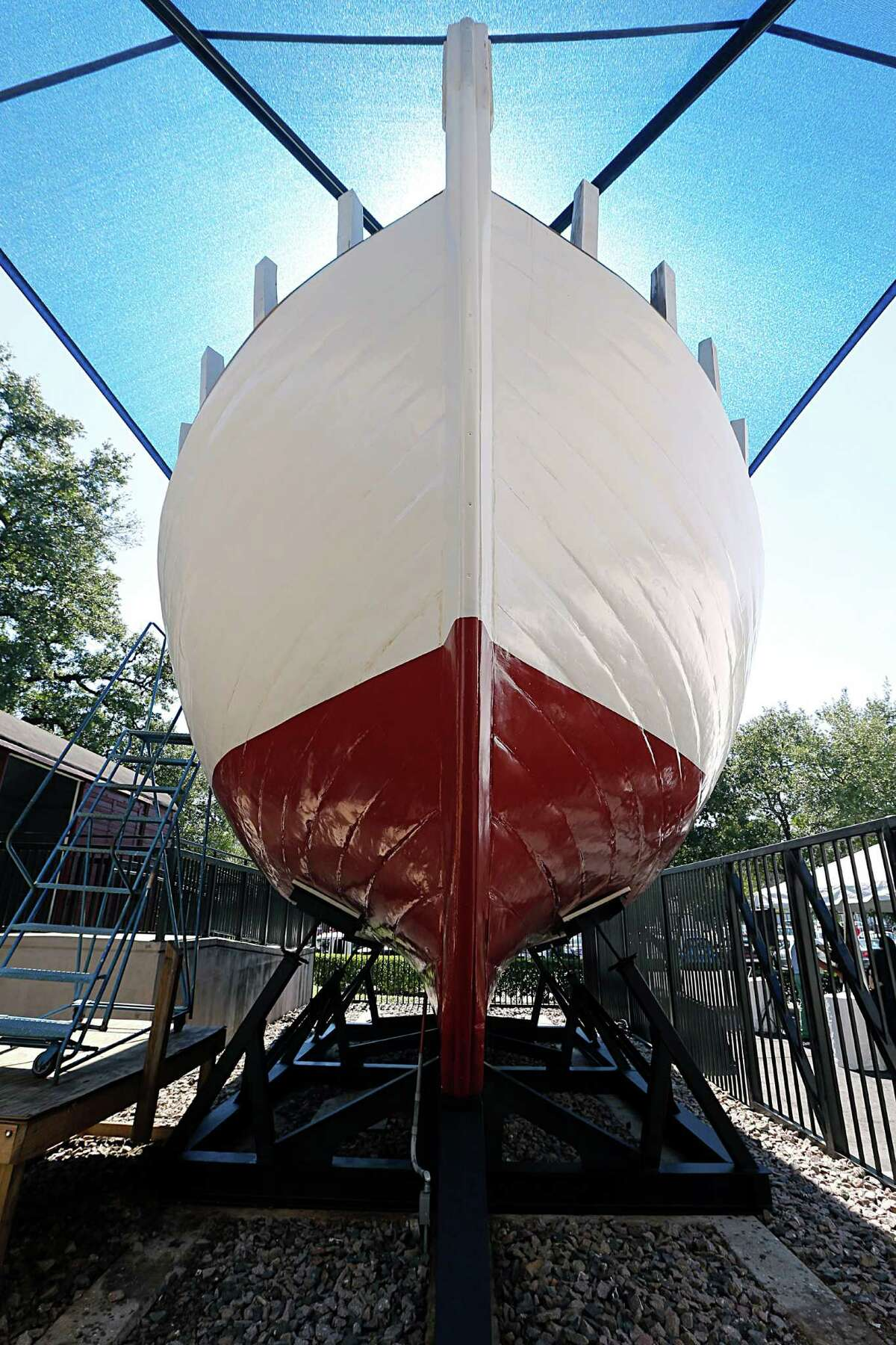 The Holocaust Museum Houston's Danish rescue boat during a rededication ceremony Hosted by The Honorable Anna Thomsen Holliday, Consul, Kingdom of Denmark Sunday, Oct. 4, 2015, in Houston. ( James Nielsen / Houston Chronicle )