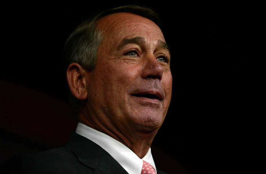 WASHINGTON, DC - SEPTEMBER 25: House Speaker John Boehner announces his resignation during a press conference on Capitol Hill September 25, 2015 in Washington, DC. After 25 years in Congress and five years as Speaker, Boehner said he decided this morning to step down after contemplation and prayer.  (Photo by Astrid Riecken/Getty Images) ORG XMIT: 581020695 Photo: Astrid Riecken / 2015 Getty Images