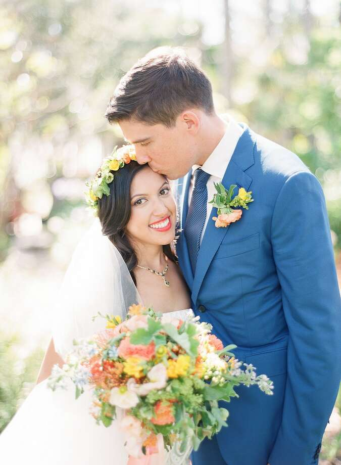 Katherine Guzman and Julian Sanders wed in July in Santa Barbara. The ceremony was held at Our Lady of Mount Carmel in Montecito and the reception at Belmond El Encanto in Santa Barbara. Photo: Inc, MiBelle Photographers