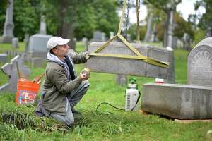 Restoring historic gravestones in Albany Rural Cemetery — gently - Photo