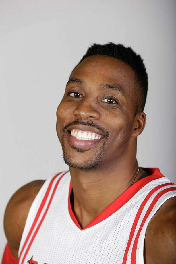 Houston Rockets' Dwight Howard poses for his portrait on media day Monday, Sept. 28, 2015, in Houston. (AP Photo/Pat Sullivan) Photo: Pat Sullivan, STF / AP