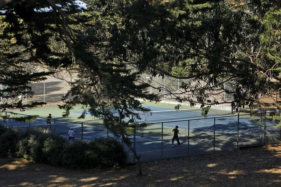 Tennis courts at McLaren Park in San Francisco. Photo: Scott Strazzante, The Chronicle