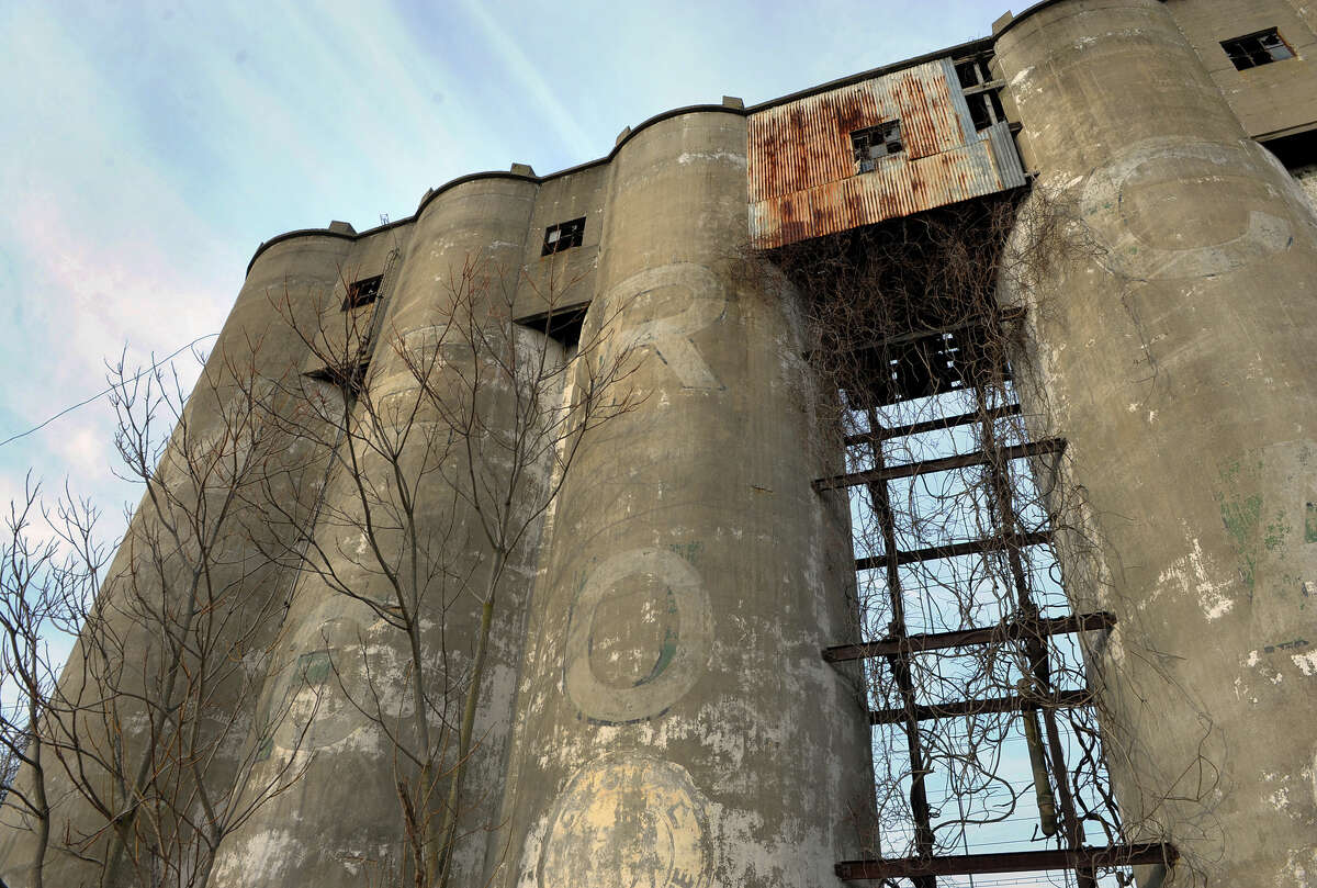 A file photo of the former Mercer Coal tower along Stratford Avenue in Stratford, Conn. on Wednesday January 15, 2014. Officials say that the structure will be demolished beginning Wednesday.