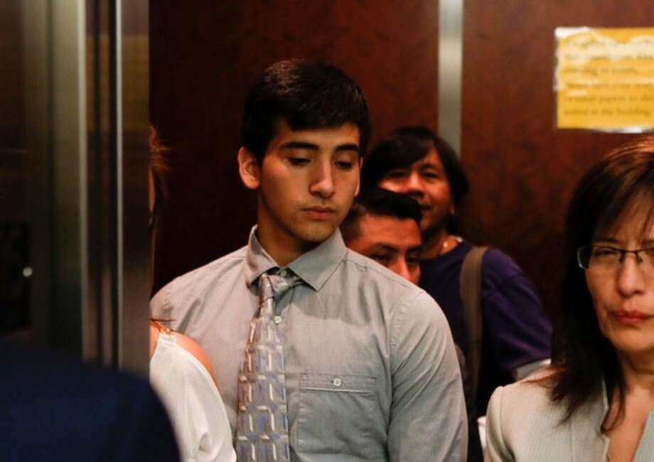 Oscar Ollervides, 20, appears in court on Monday, Oct. 5, 2015. He is accused of killing a 6-year-old boy during a drive-by shooting in southeast Houston. Photo: Cody Duty / Houston Chronicle