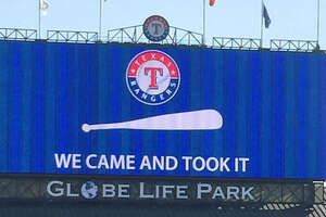 Rangers troll Astros' Come and Take It flag - Photo