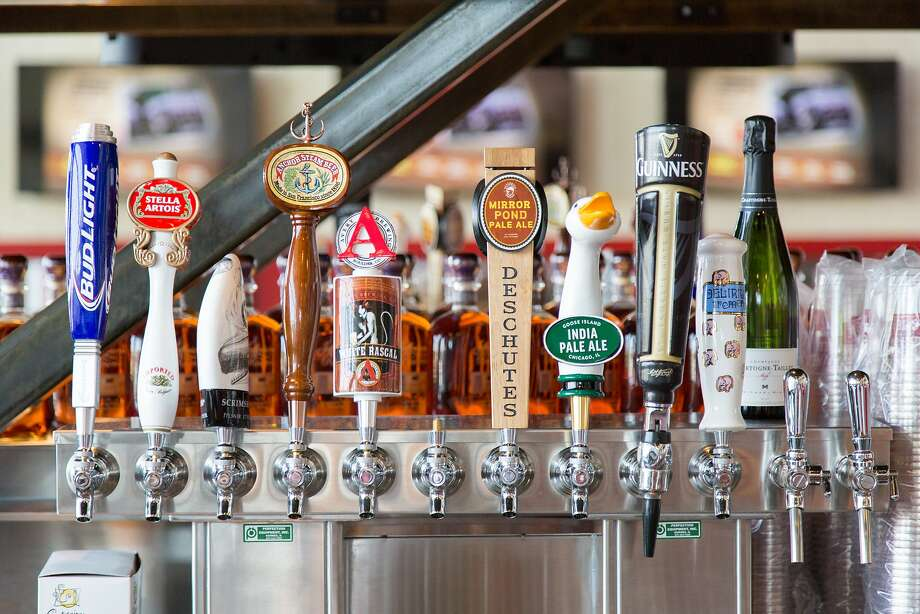 A variety of beers on tap at Bourbon Steak & Pub at Levi's Stadium in Santa Clara. Photo: Jason Henry, Special To The Chronicle