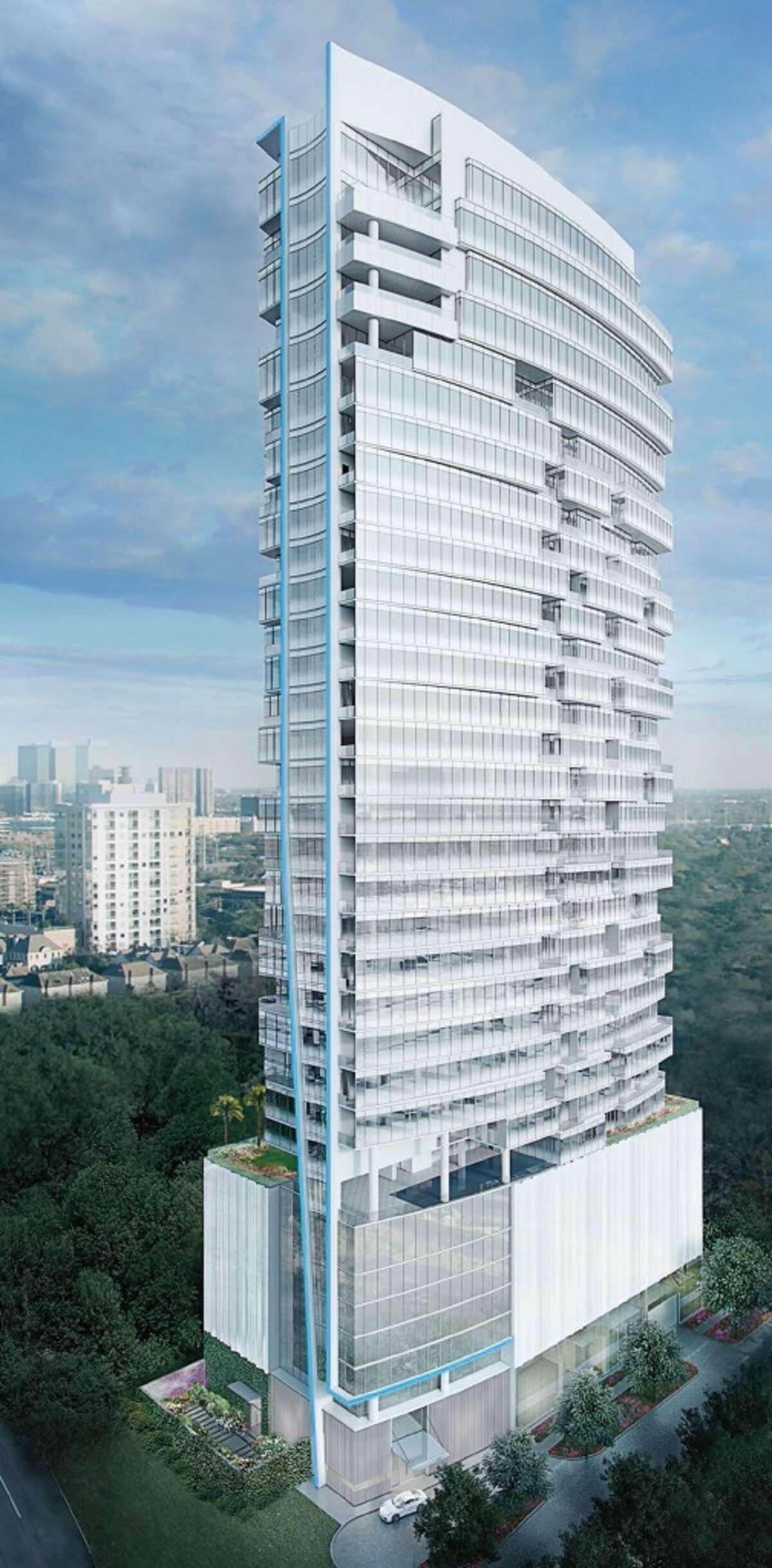 Arabella -4521 San Felipe Street Stories tall:33 Height:399 ft Building function:Residential Source:Skyscrapercenter.com