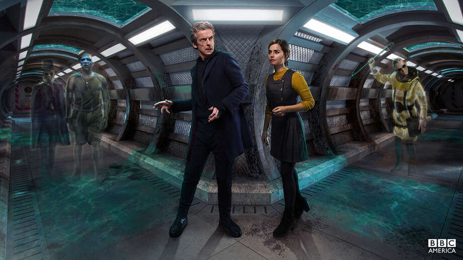 The Doctor (Peter Capaldi) and Clara (Jenna Coleman) in a ghost-story cliffhanger. Photo: BBC America