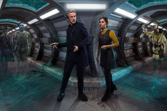 The Doctor (Peter Capaldi) and Clara (Jenna Coleman) in a ghost-story cliffhanger.