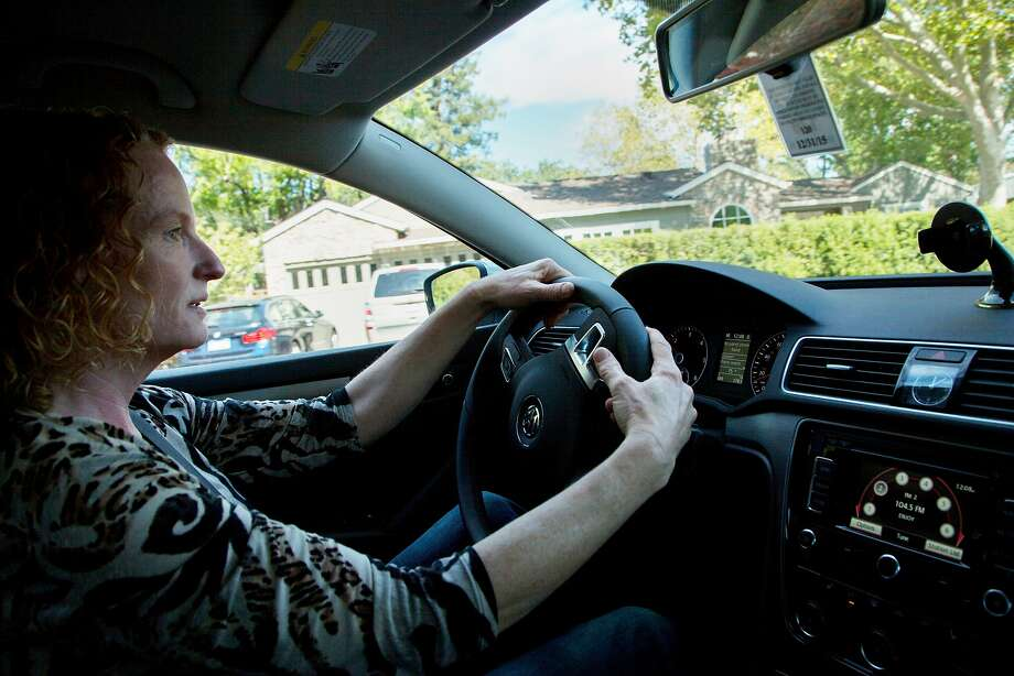 Breese Berkowitz drives in her 2015 Volkswagen Passat TDI, Sunday, Oct. 4, 2015, in Walnut Creek, Calif. Berkowitz bought the vehicle just six days before regulators announced that VW had monkeyed with its cars to pass emissions tests. Photo: Santiago Mejia, Special To The Chronicle
